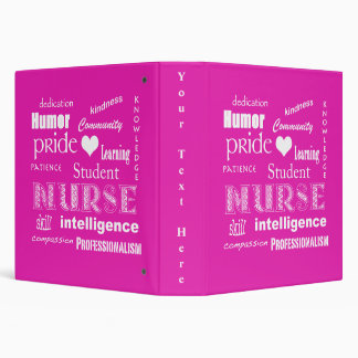 Student Nurse Pride-Attributes/Pink Binder