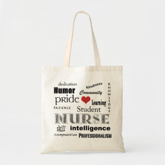 Student Nurse Pride-Attributes+red heart Tote Bag