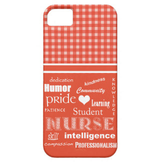 Student Nurse Pride-Attributes/Salmon+White iPhone SE/5/5s Case