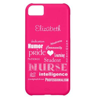 Student Nurse Pride-Attributes /Vibrant Pink iPhone 5C Cover