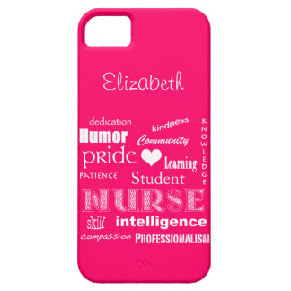 Student Nurse Pride-Attributes /Vibrant Pink iPhone SE/5/5s Case