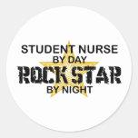 Student Nurse Rock Star by Night Classic Round Sticker