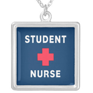 Student Nurse Silver Plated Necklace