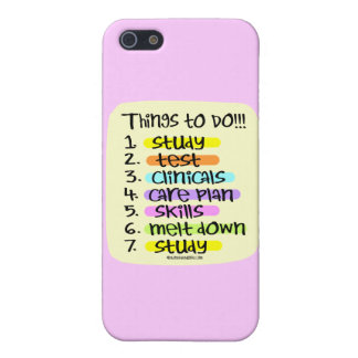 Student Nurse To Do List Case For iPhone SE/5/5s