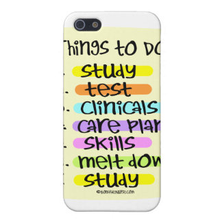 Student Nurse To Do List Cover For iPhone SE/5/5s