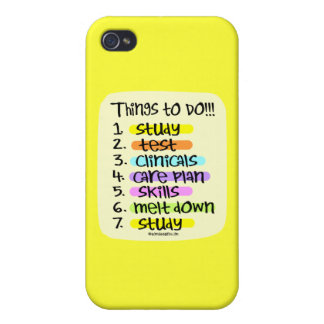 Student Nurse To Do List iPhone 4 Covers