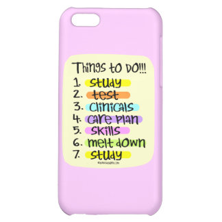 Student Nurse To Do List Case For iPhone 5C