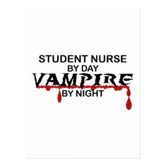 Student Nurse Vampire by Night Postcard