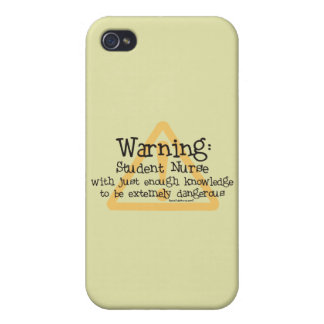 Student Nurse Warning iPhone 4 Cover