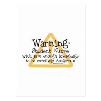 Student Nurse Warning Postcard