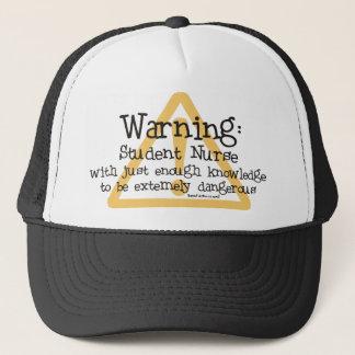 Student Nurse Warning Trucker Hat
