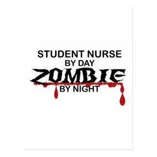 Student Nurse Zombie Postcard