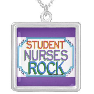 Student Nurses Rock Square Pendant Necklace