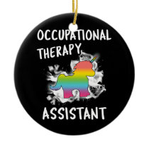 Student Occupational Therapy Assistant Unicorn OT Ceramic Ornament