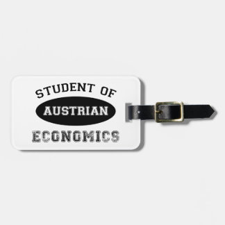 Student of Austrian Economics Tags For Luggage