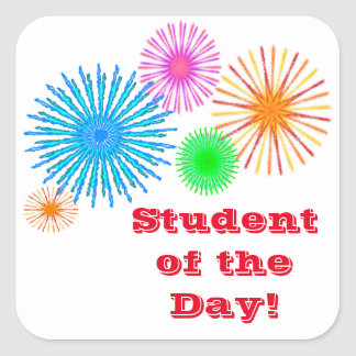 Student of the Day! Square Sticker