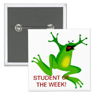 Student of the Week Pin - JUMPING FOR JOY FROG