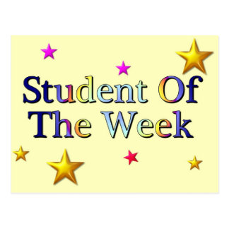 Student Of The Week Postcard