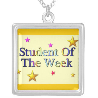 Student Of The Week Silver Plated Necklace