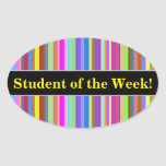 """[ Thumbnail: """"Student of The Week!"""" + Stripes of Various Colors Sticker ]"""