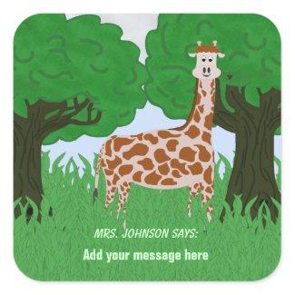Student or Patient Giraffe Stickers sticker