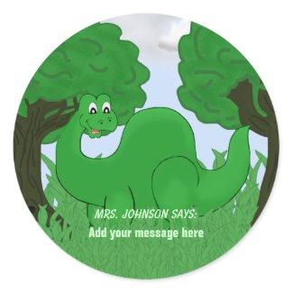 Student/Patient Dinosaur Stickers sticker