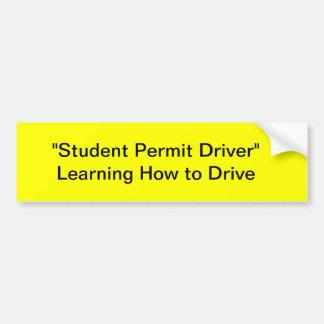 Student Permit Driver Bumper Sticker