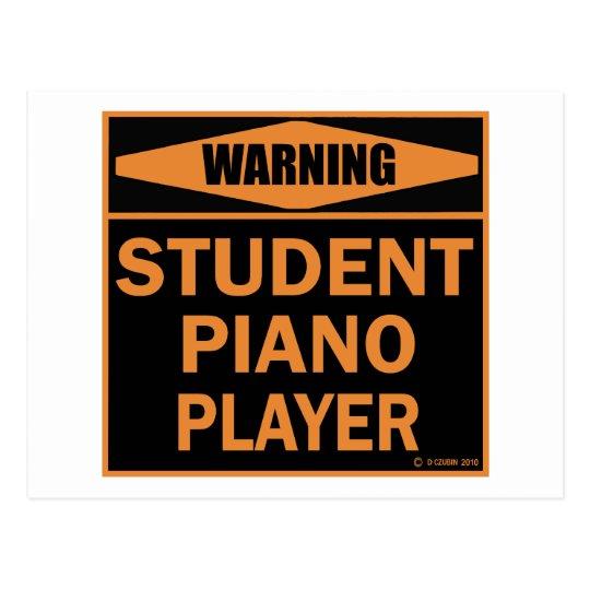 Student Piano Player Postcard