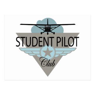 Student Pilot Club Postcard