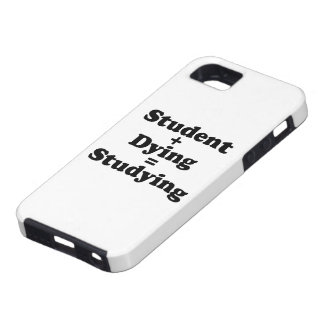 Student Plus Dying Equals Studying iPhone SE/5/5s Case