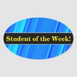 [ Thumbnail: Student Praise + Blue and Cyan Lines Pattern Sticker ]