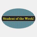 [ Thumbnail: Student Praise + Light Blue & Black Wave Pattern Sticker ]