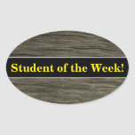 [ Thumbnail: Student Praise + Rustic Faux Wood Look Pattern Sticker ]