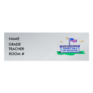 Student Profile Card Double-Sided Mini Business Cards (Pack Of 20)