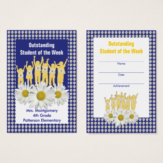 Student Recognition Daisy Certificate