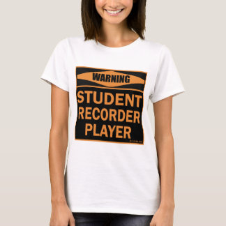 Student Recorder Player T-Shirt