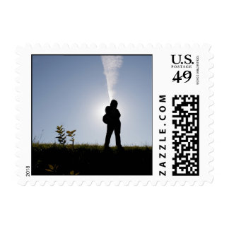 Student Silhouette Postage Stamp