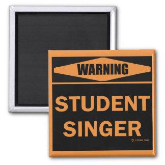 Student Singer 2 Inch Square Magnet