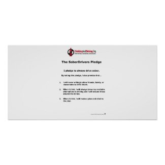 Student SoberDrivers Pledge Poster print