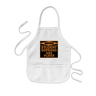 Student Soprano Sax Player Kids' Apron