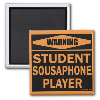 Student Sousaphone Player Refrigerator Magnet