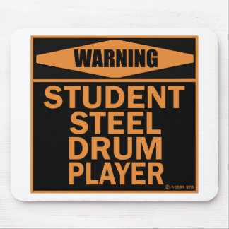Student Steel Drum Player Mouse Pad