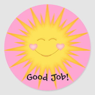 Student Stickers/Good Job,Well Done,Super Student Classic Round Sticker