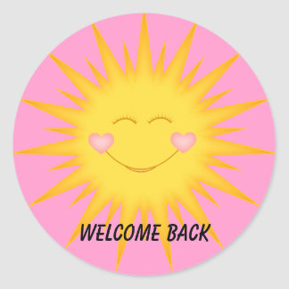 Student Stickers, Welcome Back /Good Job, Classic Round Sticker