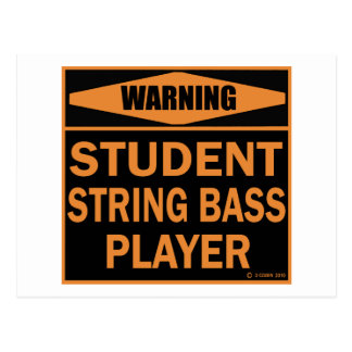Student String Bass Player Postcard