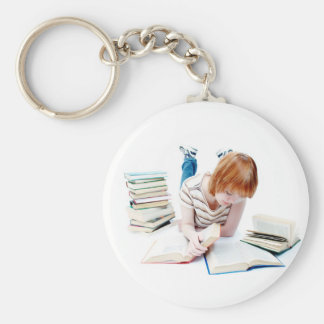 Student Studying To Get To Graduation Keychain
