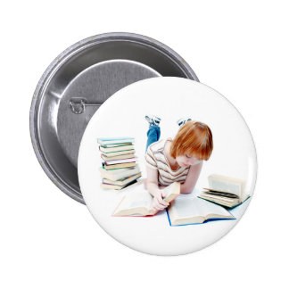Student Studying To Get To Graduation Pinback Button