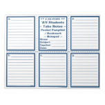 "Student ""Take Notes"" Pocket Pamphlets / Bookmarks Memo Note Pads"