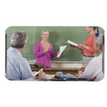 Student talking to class and standing by teacher Case-Mate iPod touch case