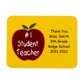 Student Teacher Magnet, with dedication Magnet
